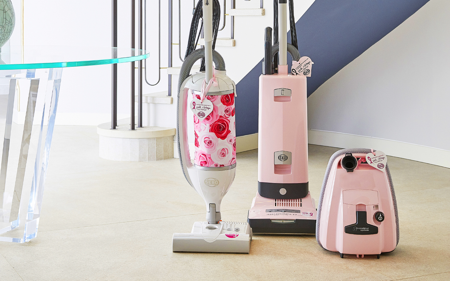 pink vacuum cleaners